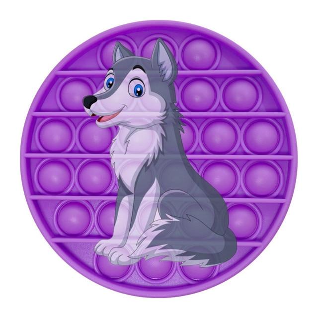pop it wolf image fidget toy 3102 - Wacky Track
