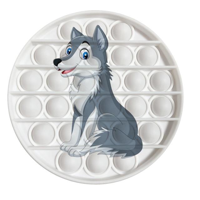 pop it wolf image fidget toy 4559 - Wacky Track