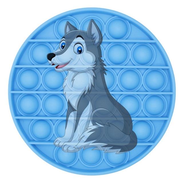 pop it wolf image fidget toy 5256 - Wacky Track