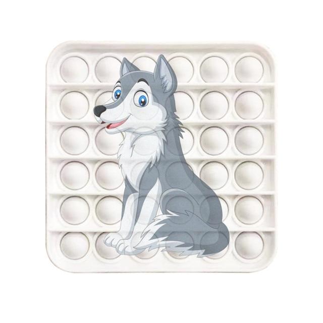pop it wolf image fidget toy 5586 - Wacky Track