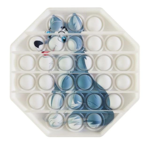 pop it wolf image fidget toy 6243 - Wacky Track
