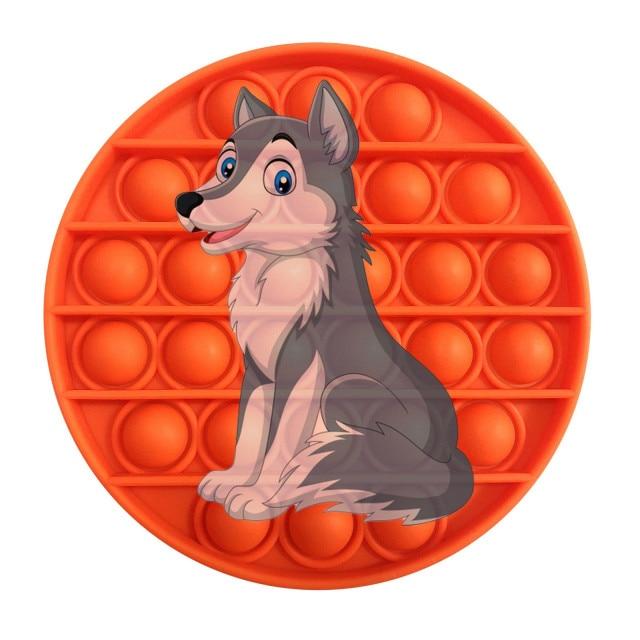 pop it wolf image fidget toy 8069 - Wacky Track