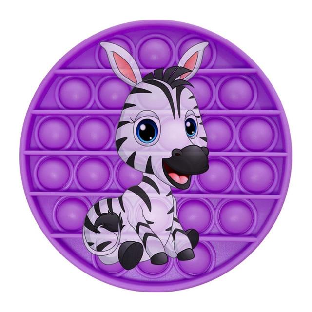 pop it zebra image fidget toy 5682 - Wacky Track