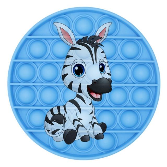 pop it zebra image fidget toy 6778 - Wacky Track