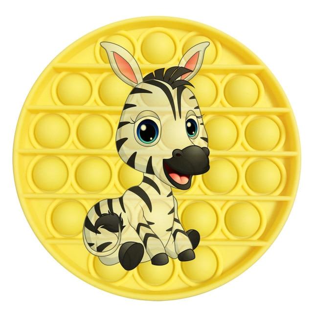 pop it zebra image fidget toy 6998 - Wacky Track