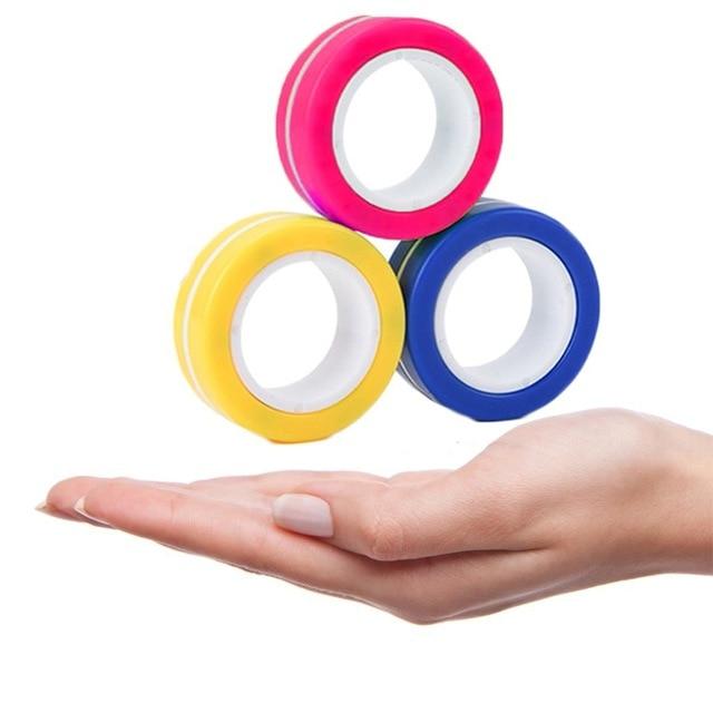 ring fidget magnetic bracelet ring unzip 2 fidget toy 2431 - Wacky Track