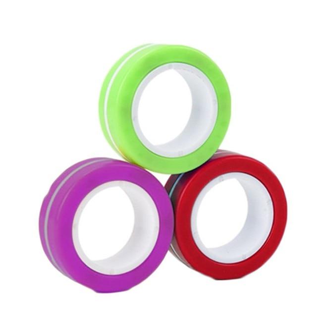 ring fidget magnetic bracelet ring unzip 2 fidget toy 5111 - Wacky Track