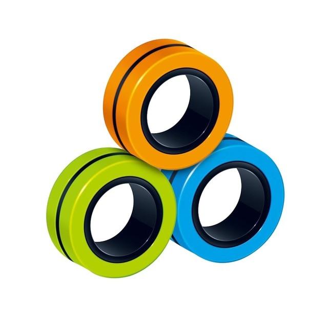 ring fidget magnetic bracelet ring unzip 2 fidget toy 5162 - Wacky Track