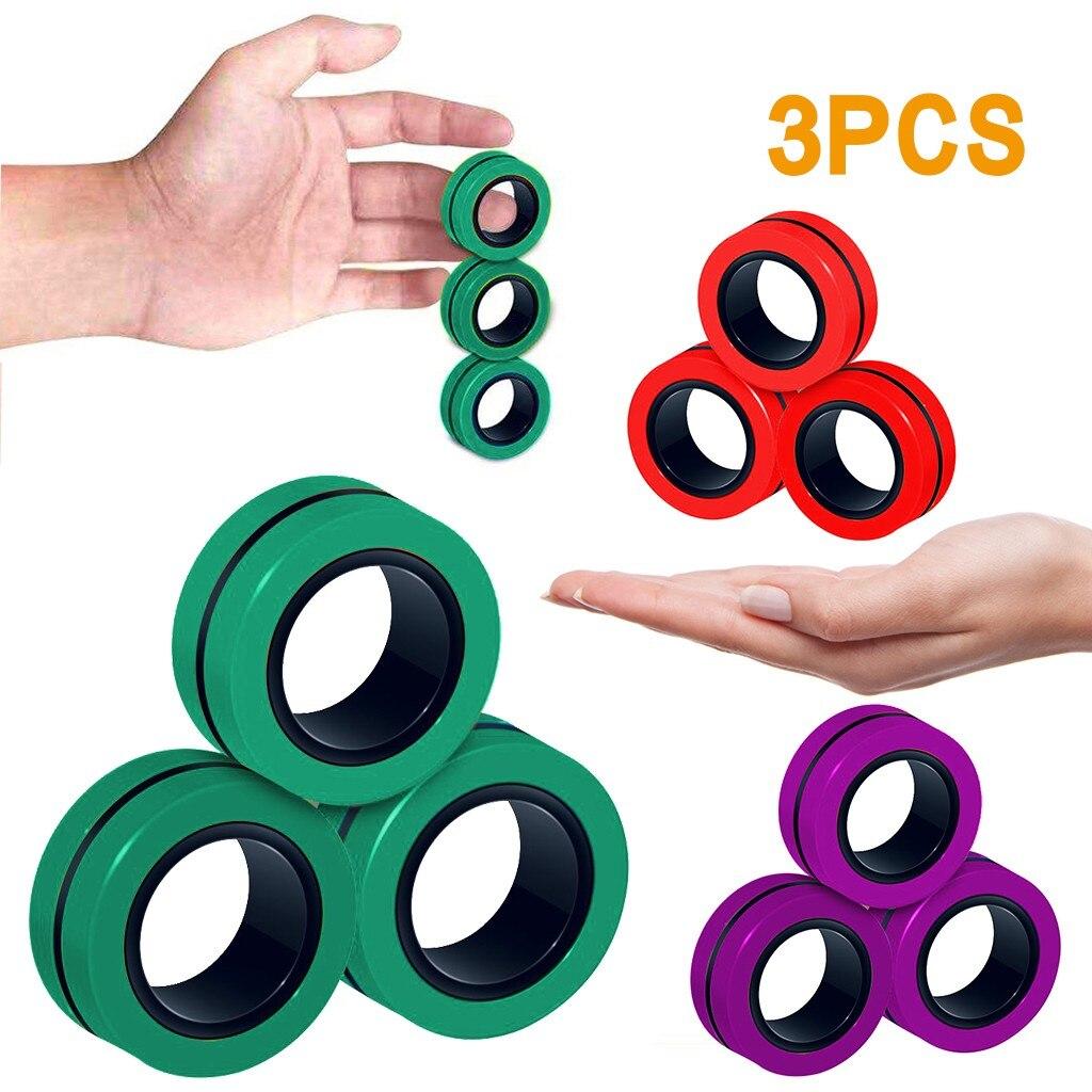 ring fidget magnetic bracelet ring unzip 2 fidget toy 5392 - Wacky Track