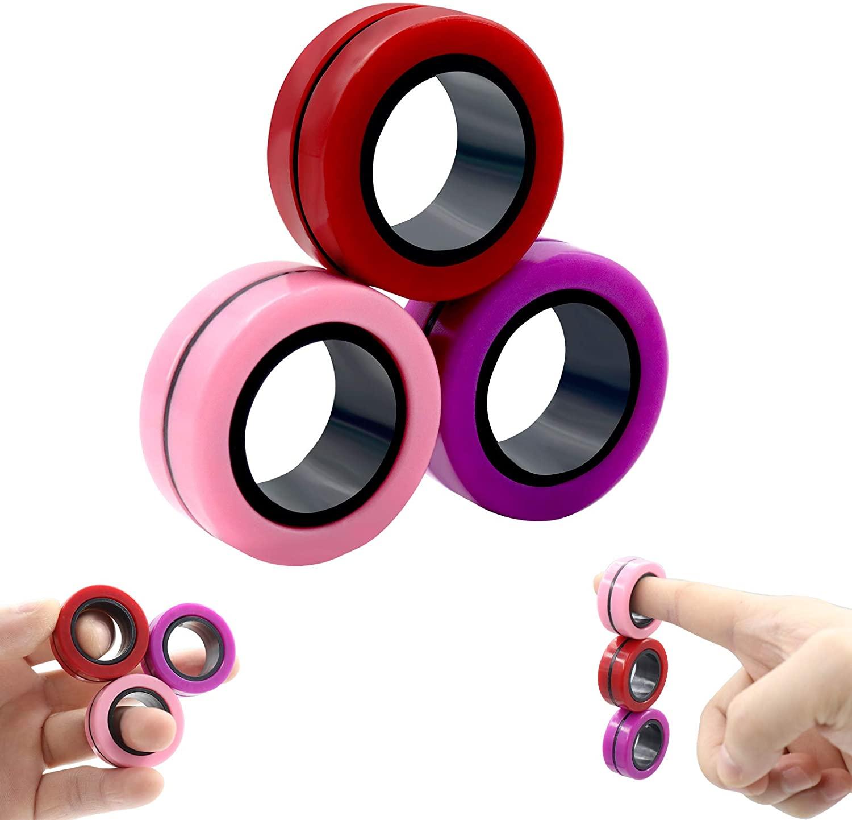ring fidget magnetic bracelet ring unzip 2 fidget toy 6029 - Wacky Track