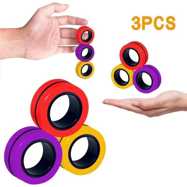 ring fidget magnetic bracelet ring unzip 2 fidget toy 6732 - Wacky Track