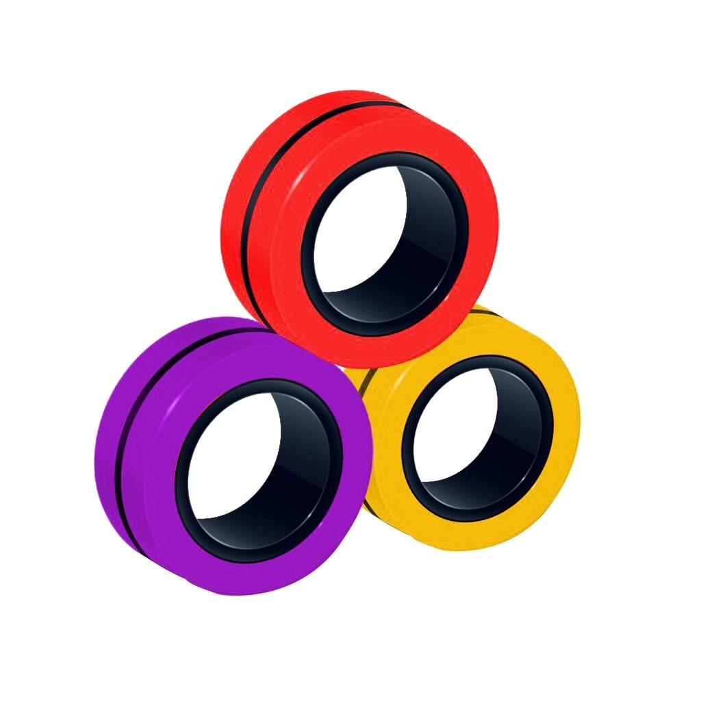 ring fidget magnetic bracelet ring unzip 2 fidget toy 6843 - Wacky Track