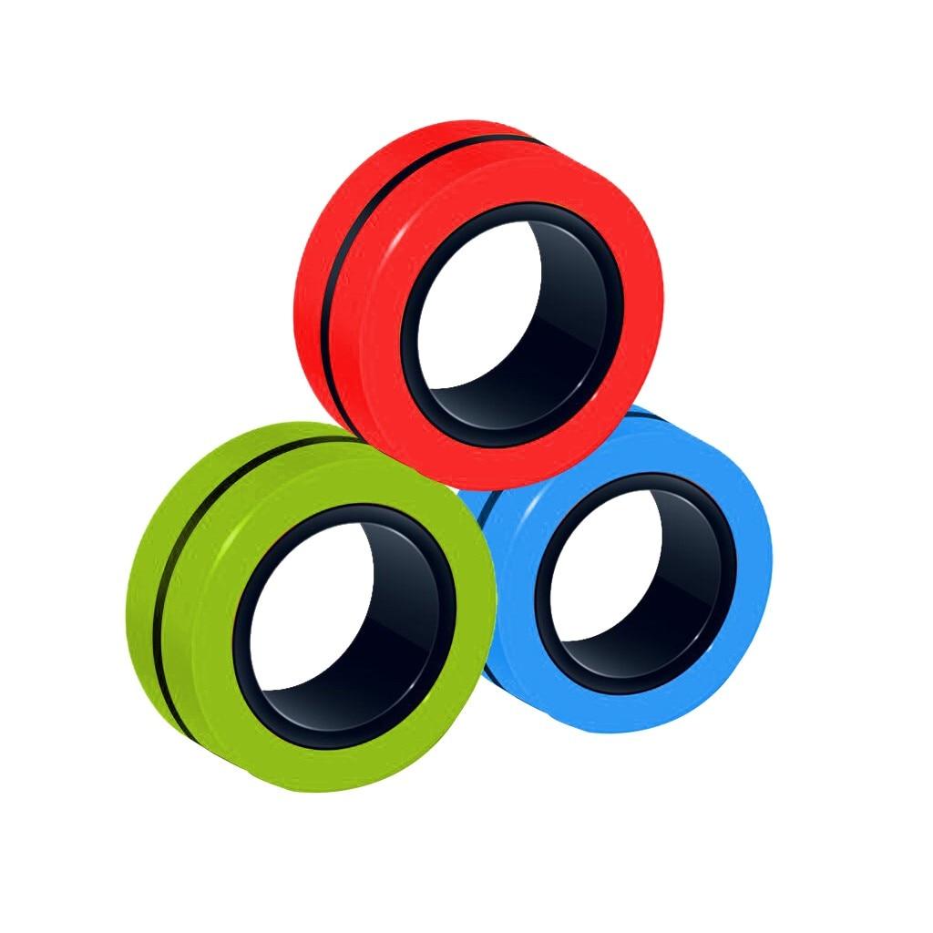 ring fidget magnetic bracelet ring unzip 2 fidget toy 7201 - Wacky Track