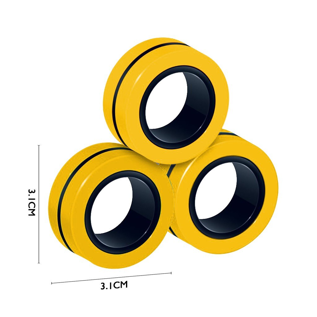 ring fidget magnetic bracelet ring unzip fidget toy 1123 - Wacky Track