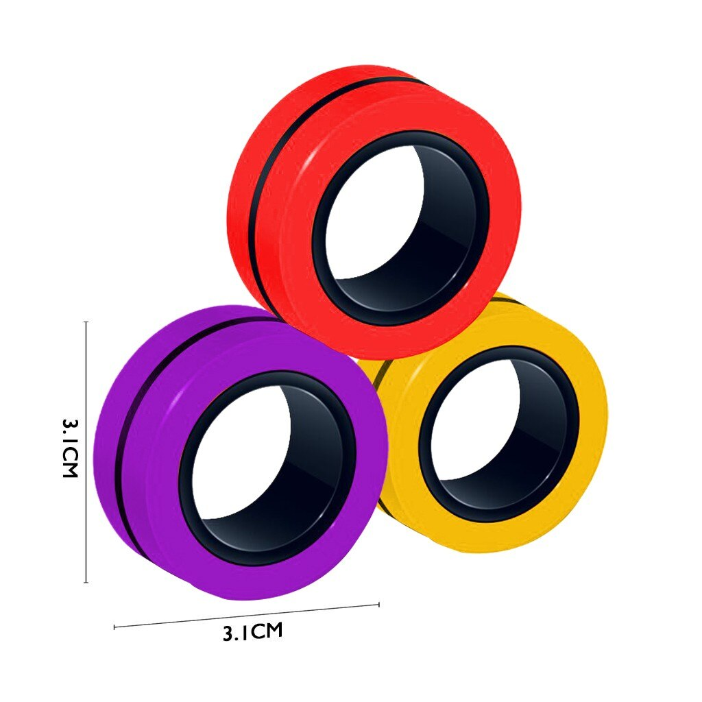 ring fidget magnetic bracelet ring unzip fidget toy 1665 - Wacky Track