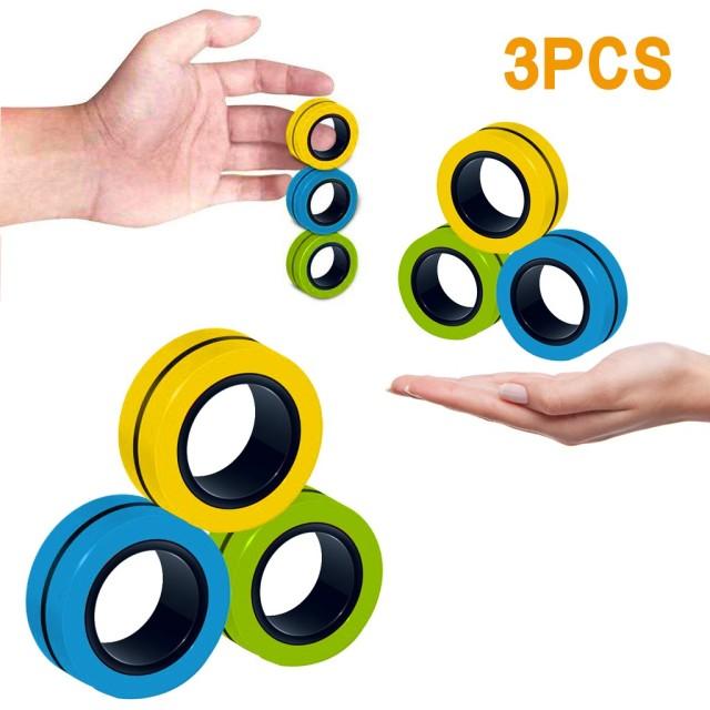 ring fidget magnetic bracelet ring unzip fidget toy 2672 - Wacky Track