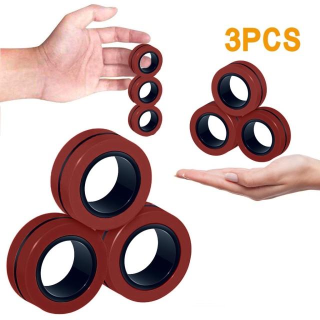 ring fidget magnetic bracelet ring unzip fidget toy 2697 - Wacky Track