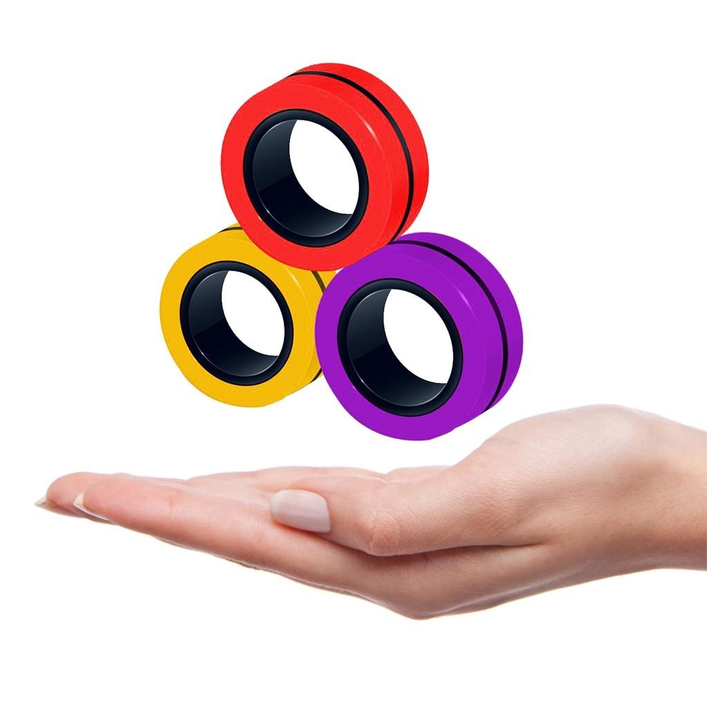 ring fidget magnetic bracelet ring unzip fidget toy 3770 - Wacky Track