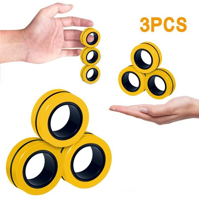 ring fidget magnetic bracelet ring unzip fidget toy 4741 - Wacky Track
