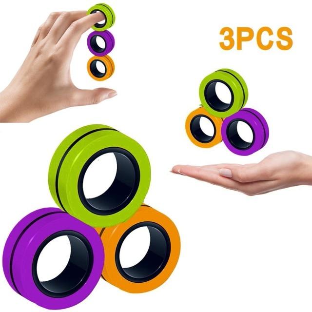 ring fidget magnetic bracelet ring unzip fidget toy 5199 - Wacky Track
