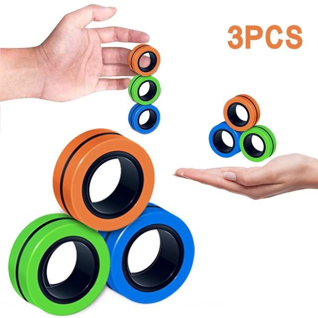 ring fidget magnetic bracelet ring unzip fidget toy 6359 - Wacky Track