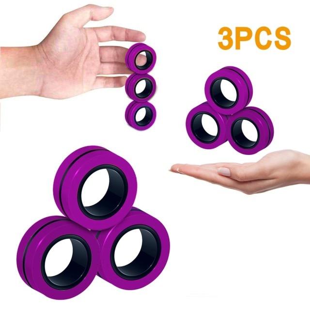 ring fidget magnetic bracelet ring unzip fidget toy 6755 - Wacky Track