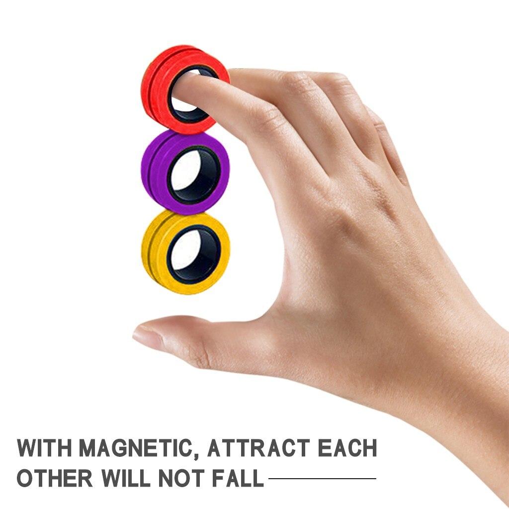 ring fidget magnetic bracelet ring unzip fidget toy 7791 - Wacky Track
