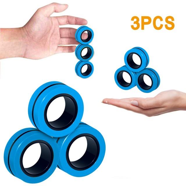 ring fidget magnetic bracelet ring unzip fidget toy 8705 - Wacky Track